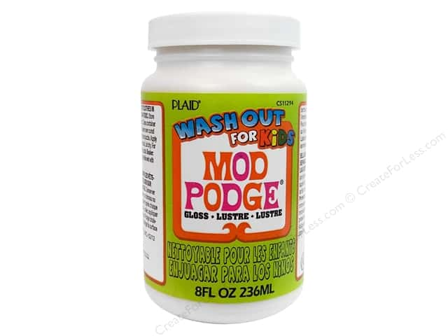 Plaid Mod Podge Kids Glue Wash Out 8oz