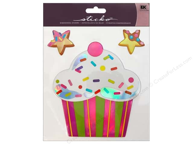 EK Sticko Stickers Big Cupcake