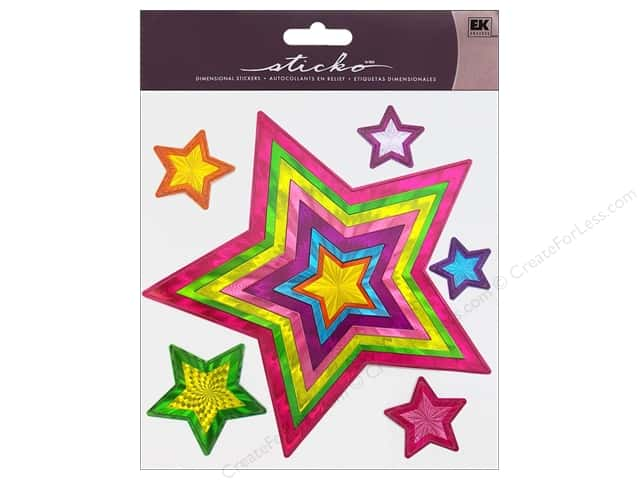 EK Sticko Stickers Big Bright Star