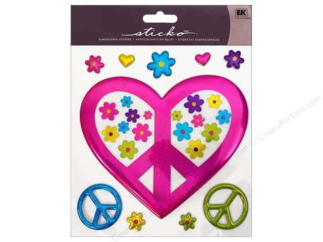 EK Sticko Stickers Big Peaceful Flowers