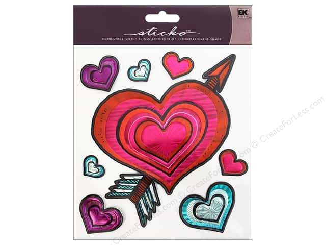 EK Sticko Stickers Big Cupids Heart
