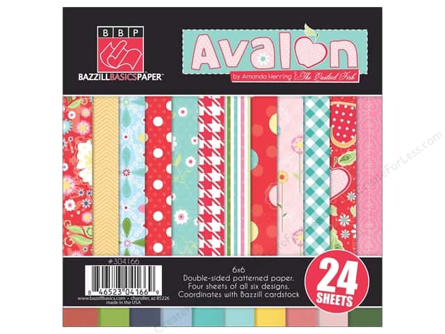 "Bazzill Multi Pack 6""x 6"" Avalon 24pc"