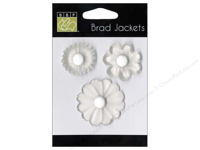 Bazzill Brads Jackets White/Clear