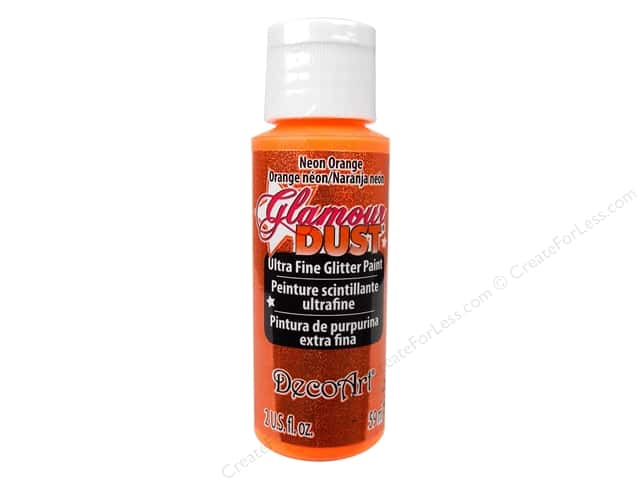 DecoArt Glamour Dust 2oz Glitter Neon Orange