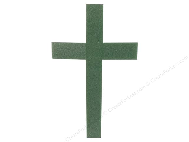 FloraCraft Styrofoam Green Shape Cross Reinforced 24 x 15 x 2 in.