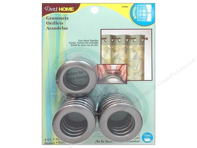 Dritz Home Curtain Grommets 1 in. Round Pewter 8pc