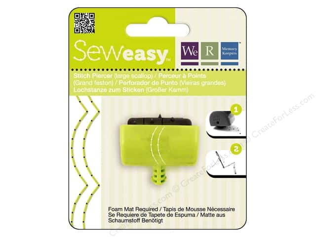 We R Memory Sew Easy Stitch Piercer Large Scallop