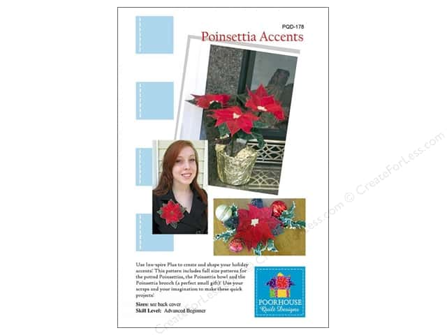 Poorhouse Quilt Design Poinsettia Accents Pattern
