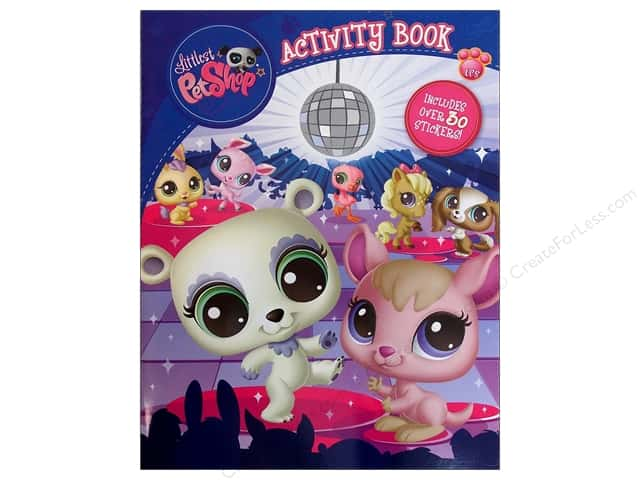 Bendon Activity Book with Stickers Littlest Pet Shop