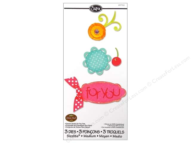 Sizzix Sizzlits Die Set 3pc. Sweet Treats For You by Eileen Hull