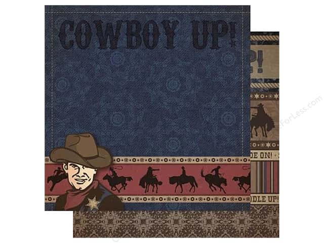 Best Creation 12 x 12 in. Paper Cowboy Collection Cowboy Up (25 pieces)