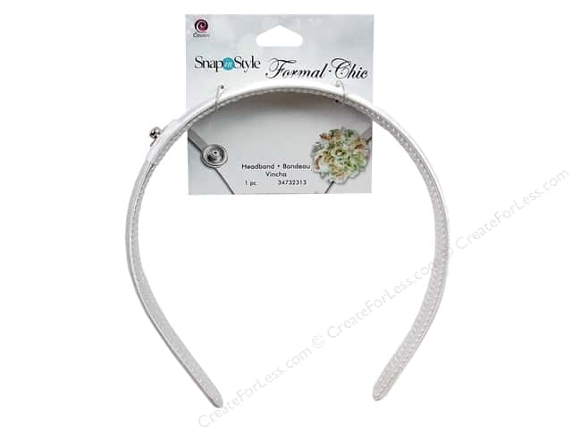 Cousin Snap In Style Base Formal Snap Headband White