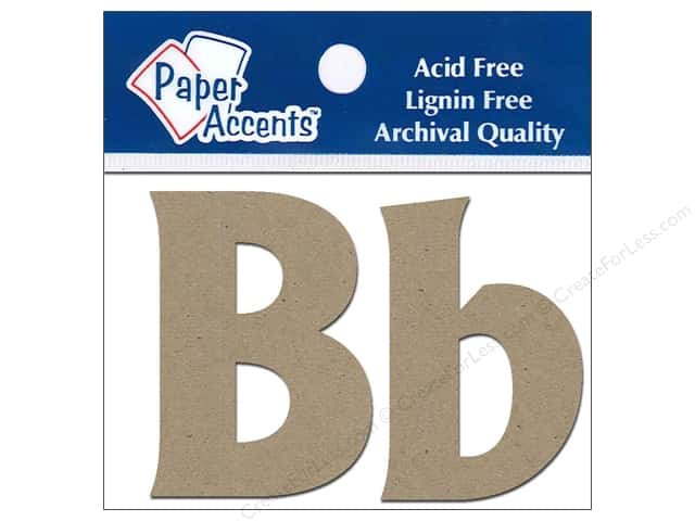 Paper Accents Chipboard Shape Letters Bb 2 in. 2 pc. Kraft