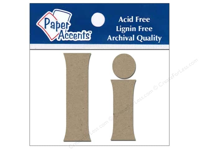"Paper Accents Chip Shape Letters 2"" Ii 2pc Natural"