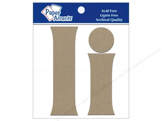 Paper Accents Chipboard Shape Letters Ii 4 in. 2 pc. Kraft