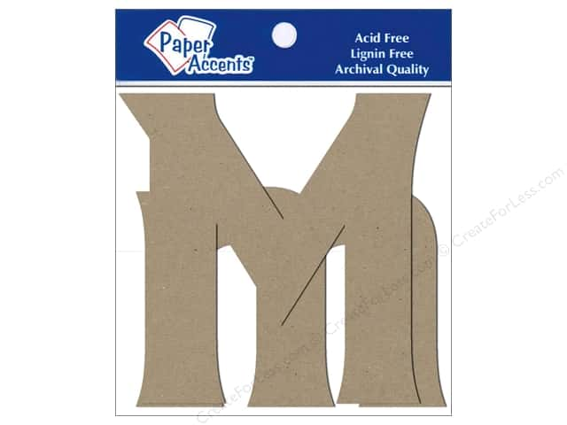 Paper Accents Chipboard Shape Letters Mm 4 in. 2 pc. Kraft