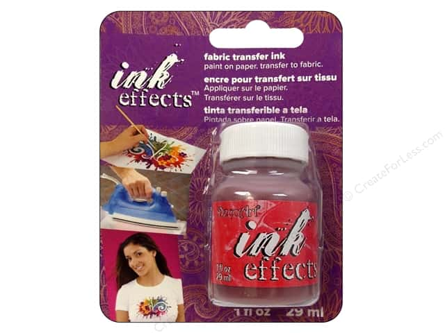 Decoart Ink Effects Fabric Transfer Ink 1oz Red