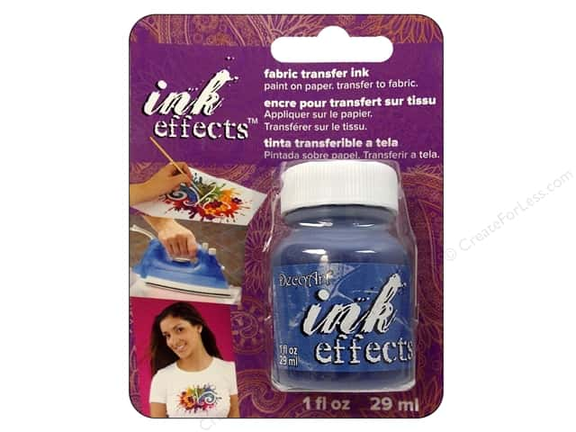 Decoart Ink Effects Fabric Transfer Ink 1oz Blue