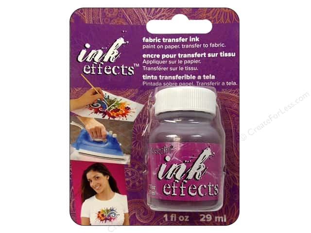 Decoart Ink Effects Fabric Transfer Ink 1oz Violet