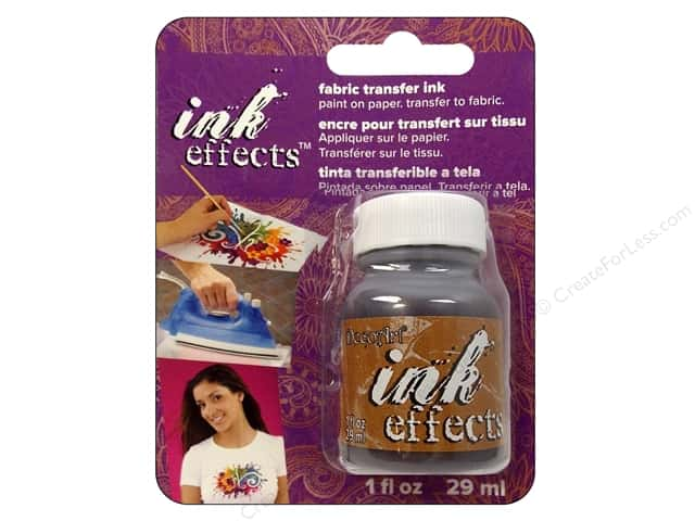 Decoart Ink Effects Fabric Transfer Ink 1oz Brown