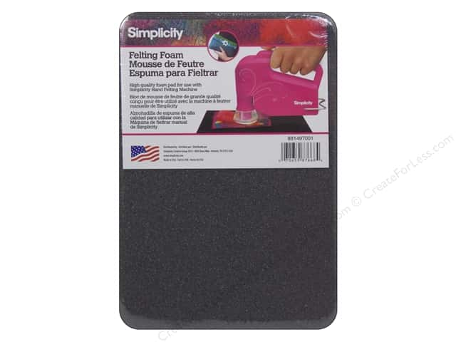 "Simplicity Felting Foam 6""x 9"" Black"