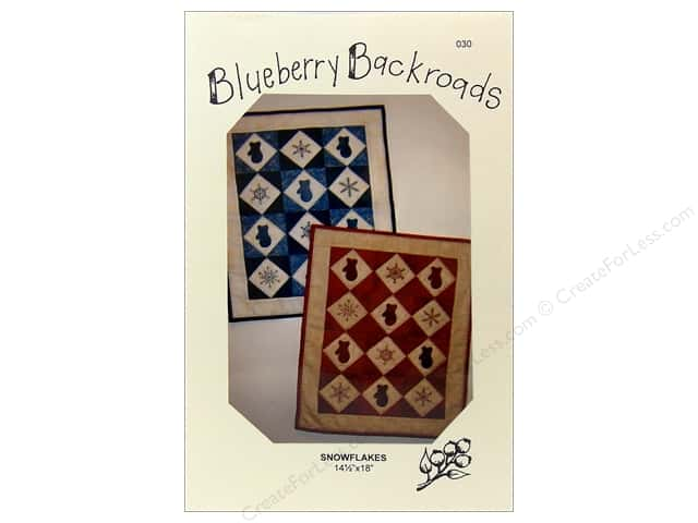 Blueberry Backroads Snowflakes Pattern