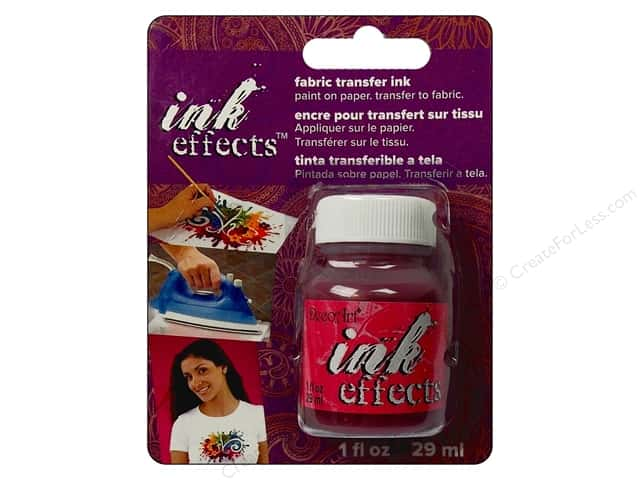 Decoart Ink Effects Fabric Transfer Ink 1oz Pink
