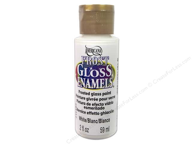 DecoArt Americana Gloss Enamel Paint 2 oz. #02 Frost White