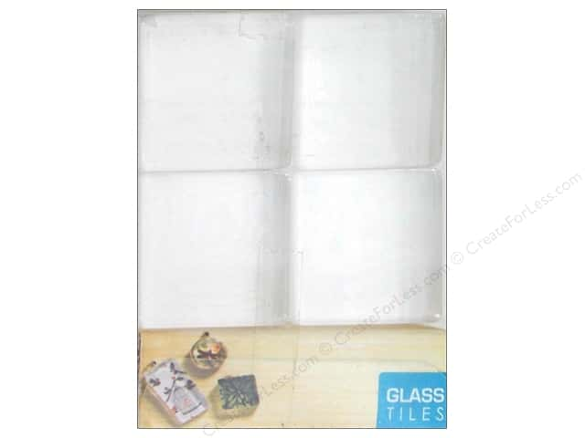 Sierra Pacific Glass Tiles 1 in. Square Clear 16 pc.
