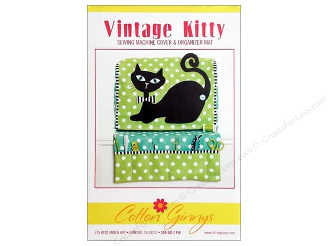 Cotton Ginnys Vintage Kitty Sewing Machine Cover Pattern