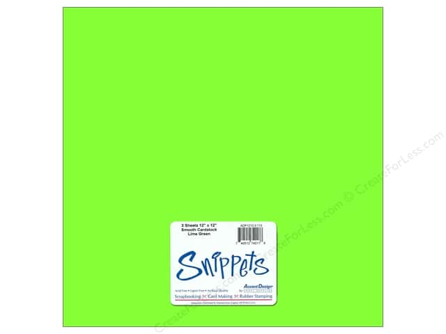 Cardstock 12 x 12 in. #113 Smooth Lime 3 pc. by Paper Accents (3 pieces)