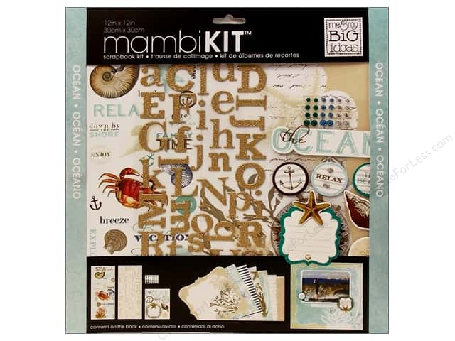 "Me&My Big Ideas Kit Scrapbook 12""x 12"" Ocean"