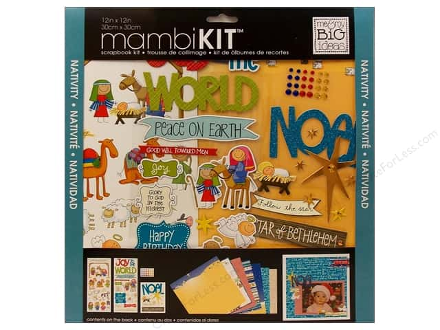 "Me&My Big Ideas Kit Scrapbook 12""x 12"" Nativity"
