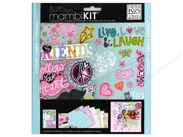 "Me&My Big Ideas Kit Scrapbook 8""x 8"" Friends"