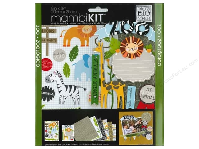 "Me&My Big Ideas Kit Scrapbook 8""x 8"" Zoo"