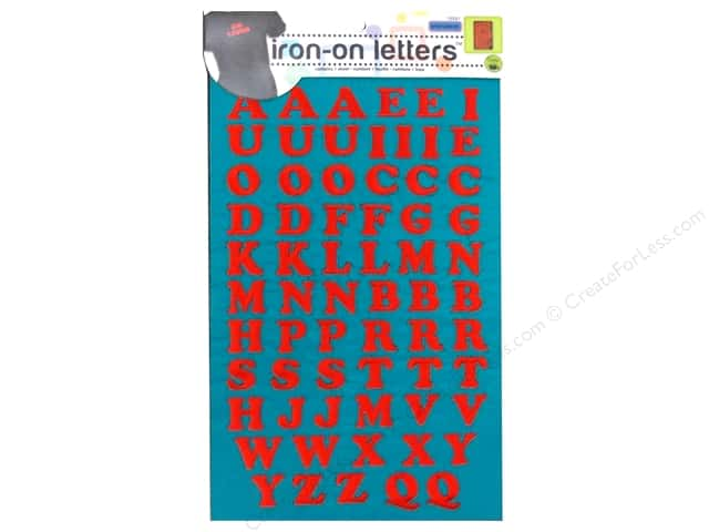 Embroidered Iron On Letters by Dritz Red -- CreateForLess