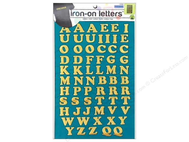 Dritz Iron On Letters Embroidered Cooper Gold