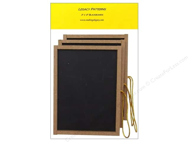 "Legacy Patterns Accents Chalkboards 3""x 4"" 3pc"