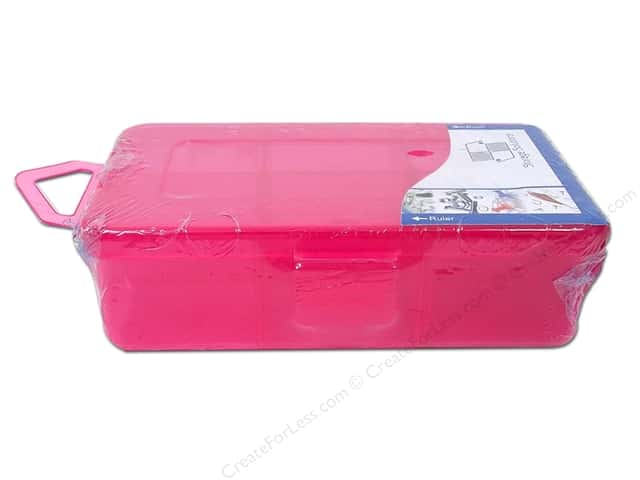 "Storage Solutions Box 6 Compartment 4.5""x 2.75"" Pink"