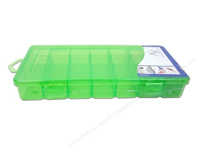 "Storage Solutions Box 21 Compartment 9""x 4.5"" Green"