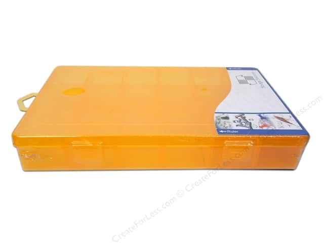"Storage Solutions Box 18 Compartment 10.5""x 6.5"" Orange"