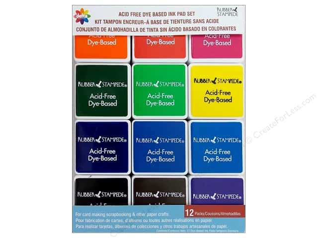 Delta Ink Pad Set Acid Free Primary 12pc