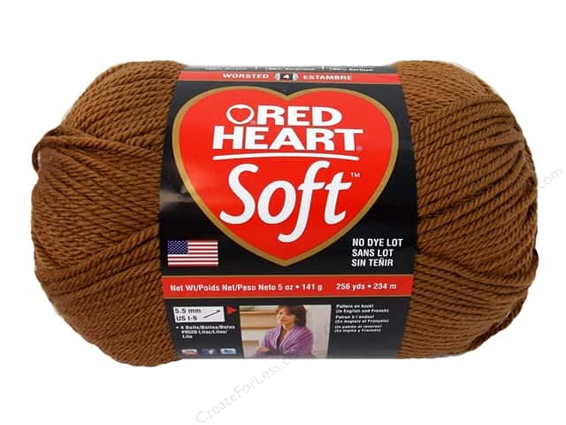 Red Heart Soft Yarn #1882 Toast 5 oz.