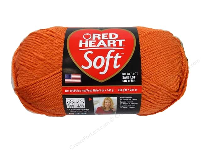 Red Heart Soft Yarn #4422 Tangerine 256 yd.