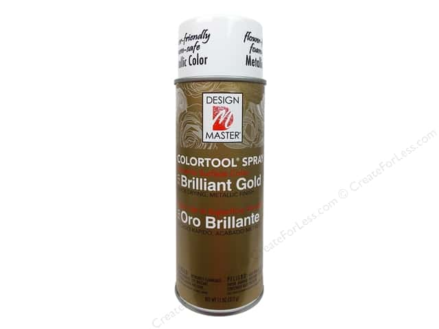 Design Master Colortool Spray Paint #731 Brilliant Gold 11 oz.