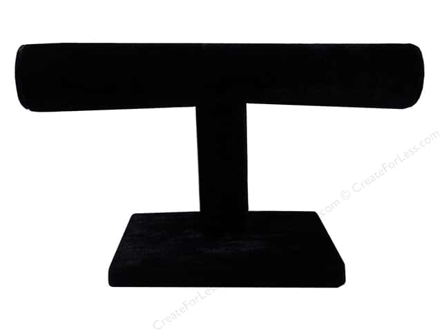 Paper Mache Jewelry Holder 1 Bar Velvet Black by Craft Pedlars