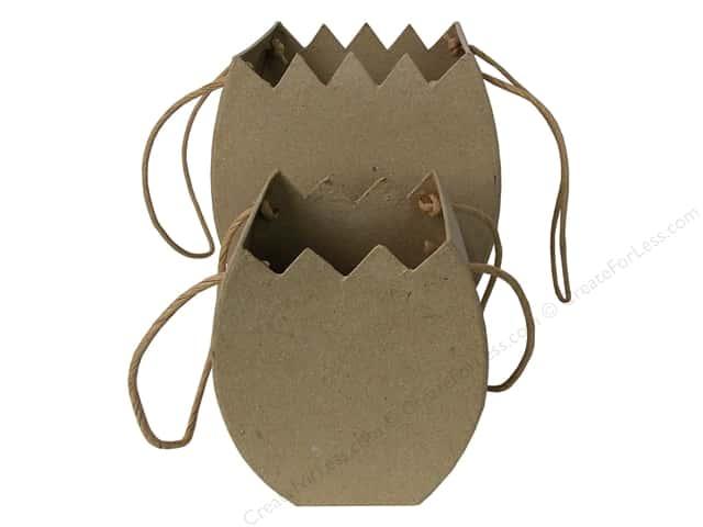 Paper Mache Cracked Egg Basket Set of 2 by Craft Pedlars