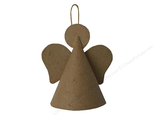 Paper Mache Cone Angel Ornament by Craft Pedlar 3 1/4 in. (3 pieces)