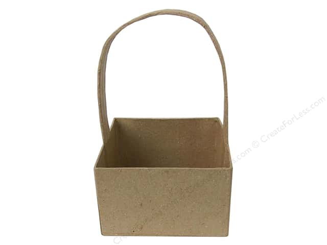 Paper Mache Square Basket by Craft Pedlars  3 3/8 in. (3 pieces)