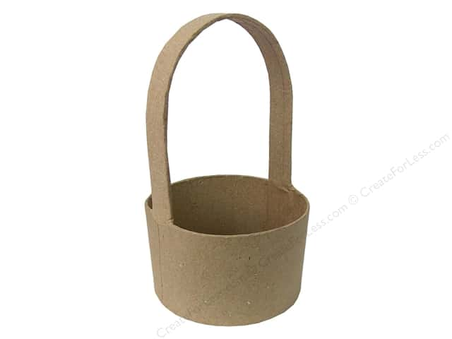 Paper Mache Round Basket by Craft Pedlars 3 3/8 in. (3 pieces)